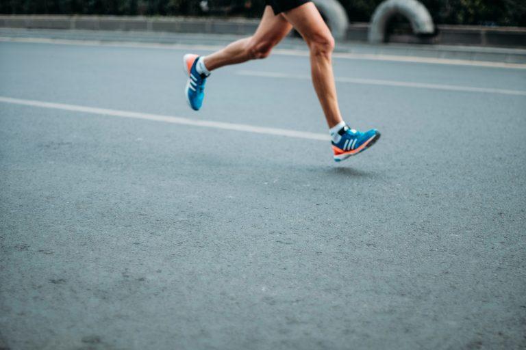 person running on street